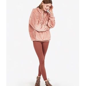 EXPRESS Oversized Velour Quarter Zip Hoodie